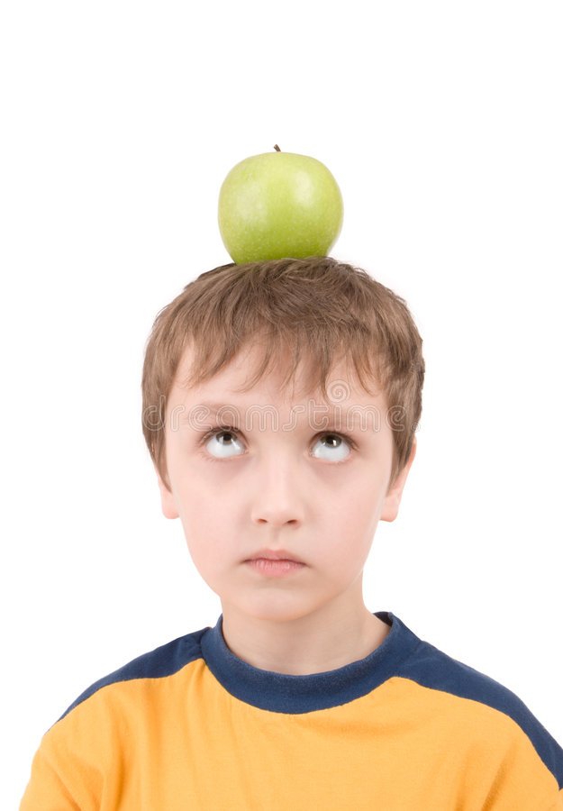 Young Boy With Apple Royalty Free Stock Photography