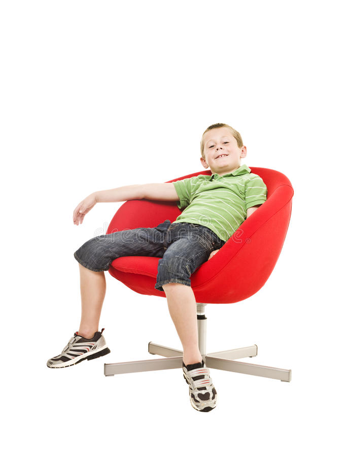 Download Young boy in an armchair stock image. Image of blue, children - 15633383