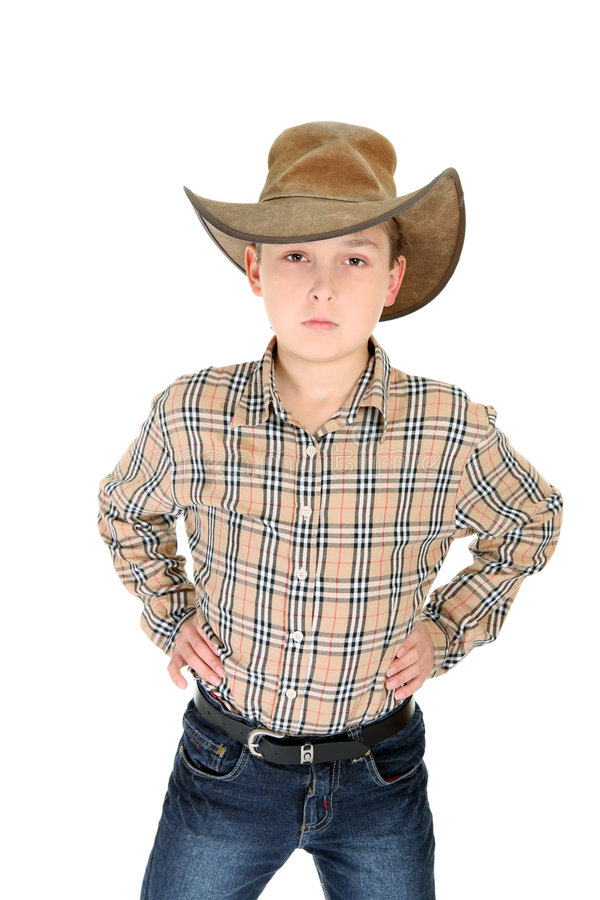 Young Boy as Country Cowboy stock photos