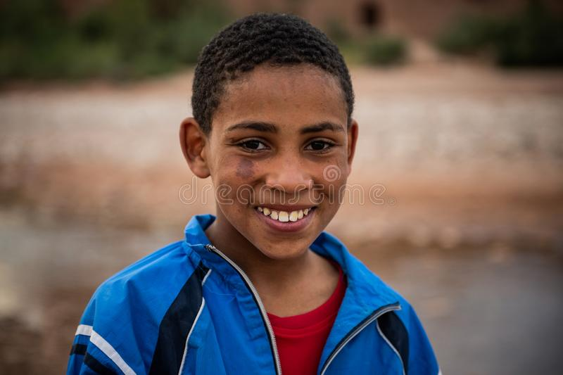 Young boy as seen in Ait Ben Haddou royalty free stock photography