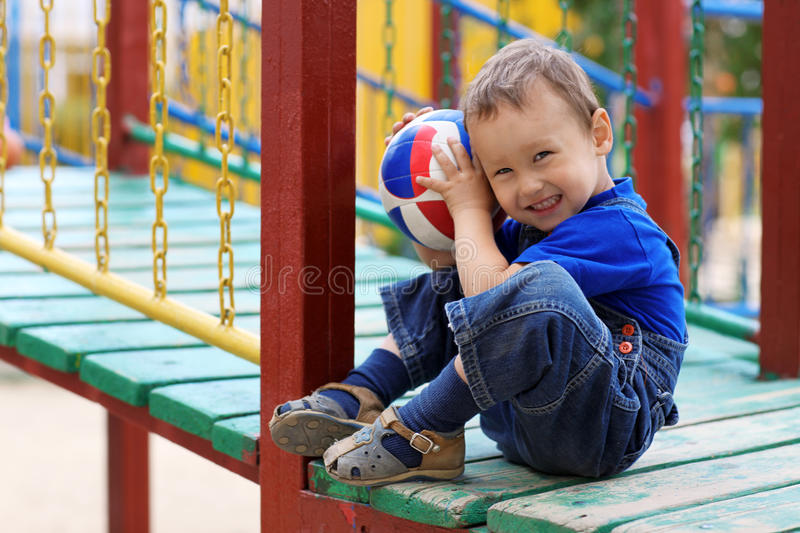 Young Boy With Ball Royalty Free Stock Images