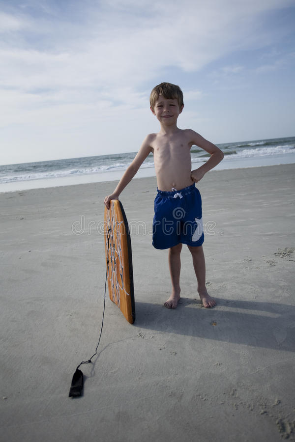 Young Boy at the Beach royalty free stock photos