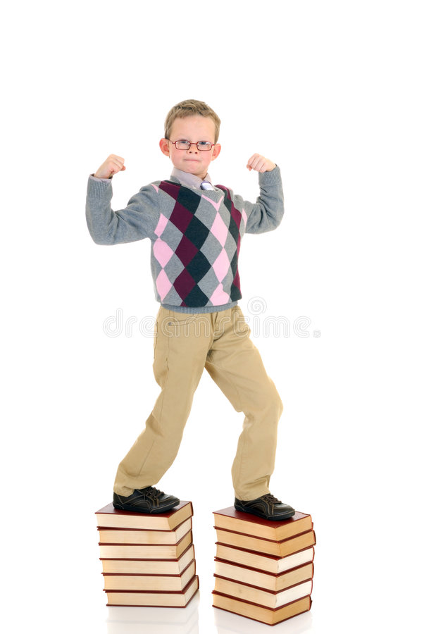 Download Young boy on book stock photo. Image of winner, background - 3944534
