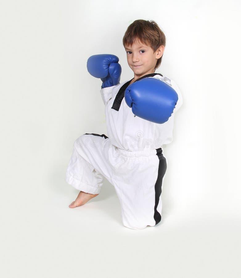 Young boy boxer