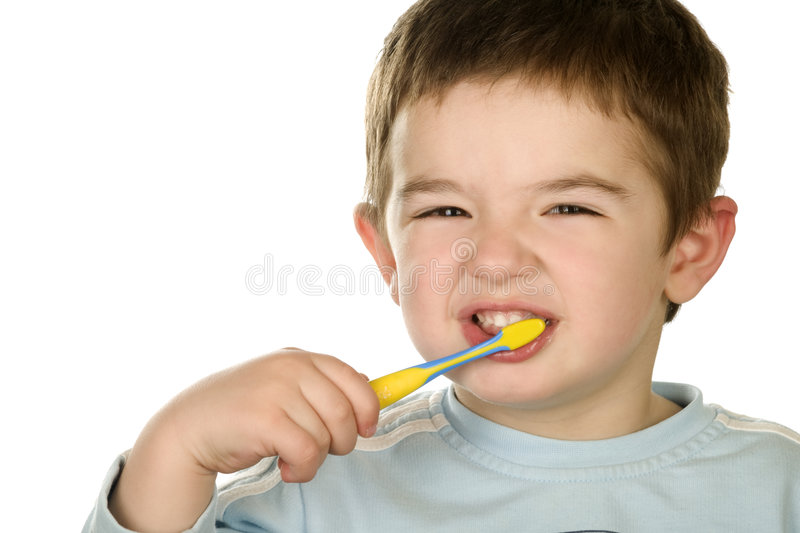 Download Young boy cleans a teeth stock photo. Image of plastic - 8475144