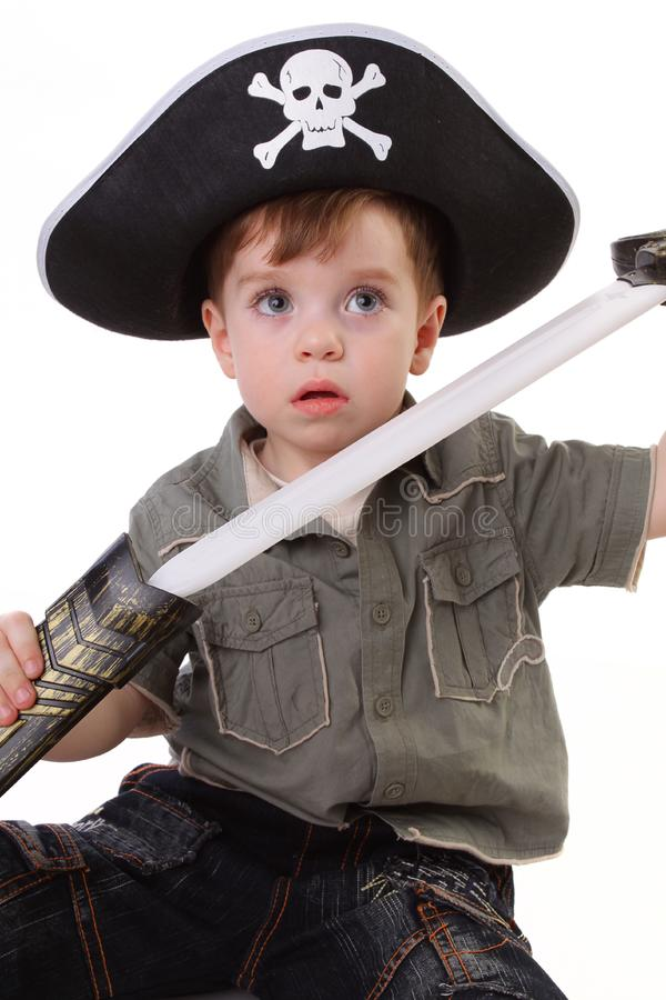 Download Young Boy Dressed As A Pirate. Stock Photo - Image of childlike, hostile: 15067304