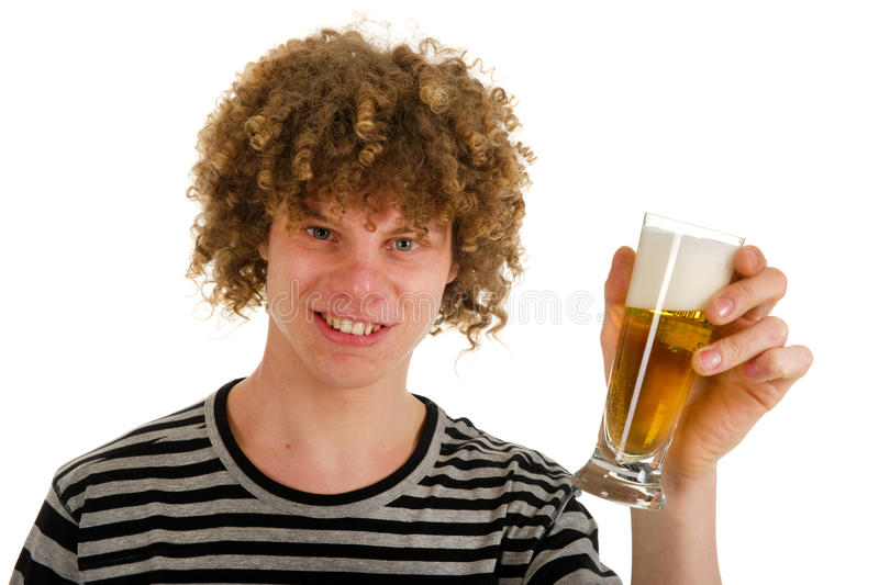 Download Young Boy Is Drinking Beer Royalty Free Stock Photography - Image: 18568377
