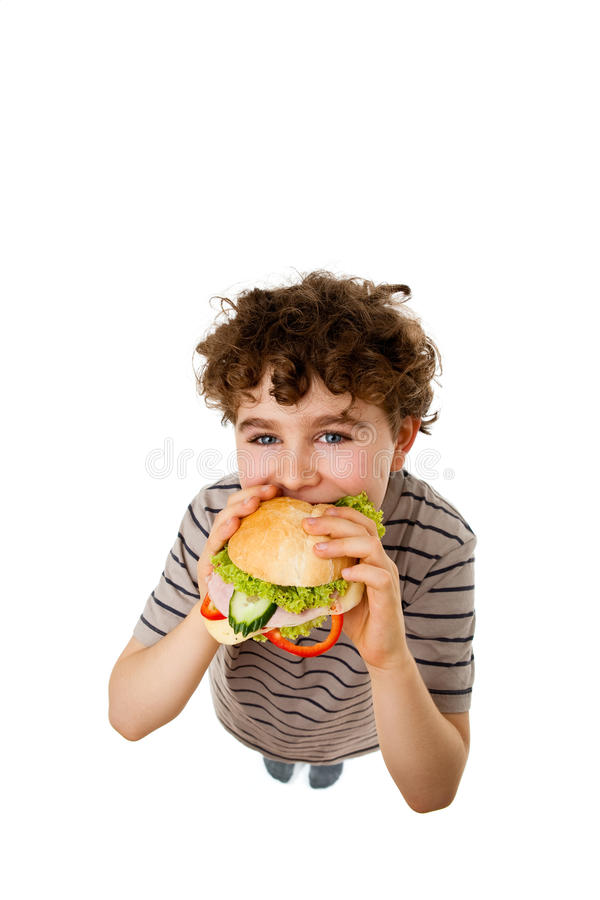 Download Young Boy Eating Healthy Sandwich Stock Photos - Image: 10763243