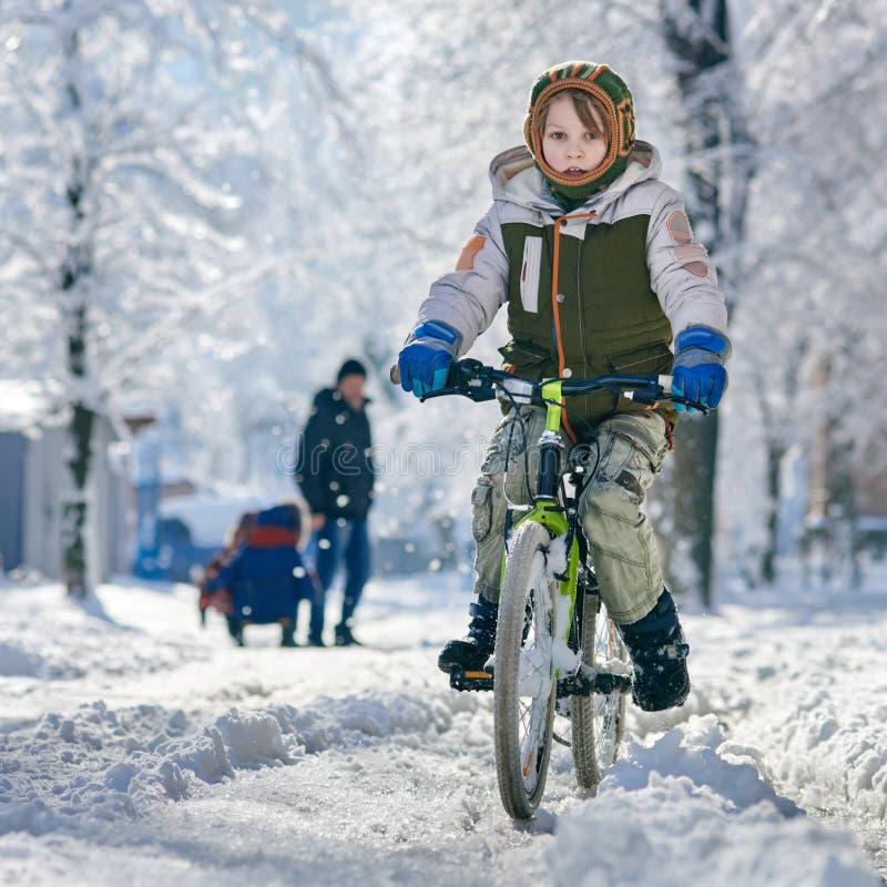 Boy enjoying cycling royalty free stock photos