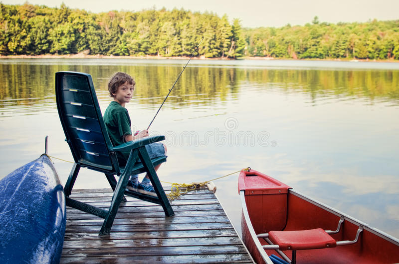 Download Young Boy Fishing Stock Photo - Image: 26705850