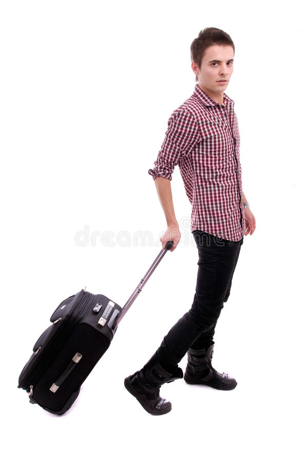 Young boy, going on vacations stock photo