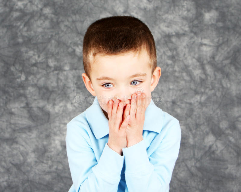 Download Young Boy Hiding Face In Hands Royalty Free Stock Image - Image: 22983966