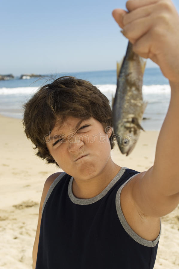 Download Young Boy With His Catch stock photo. Image of enjoy - 29647680