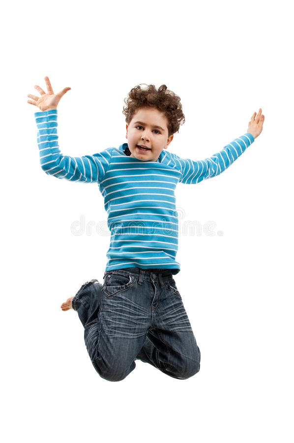 Download Young boy jumping stock image. Image of active, jump - 10846049