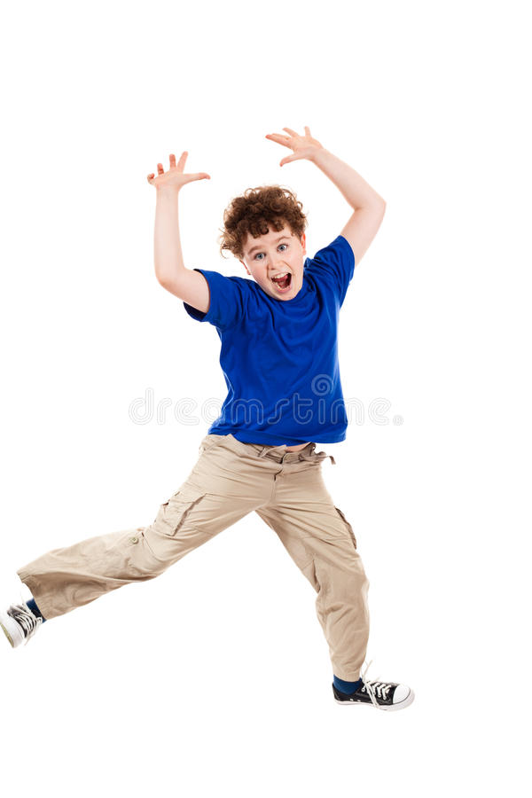 Download Young boy jumping stock image. Image of energy, enjoyment - 16451035