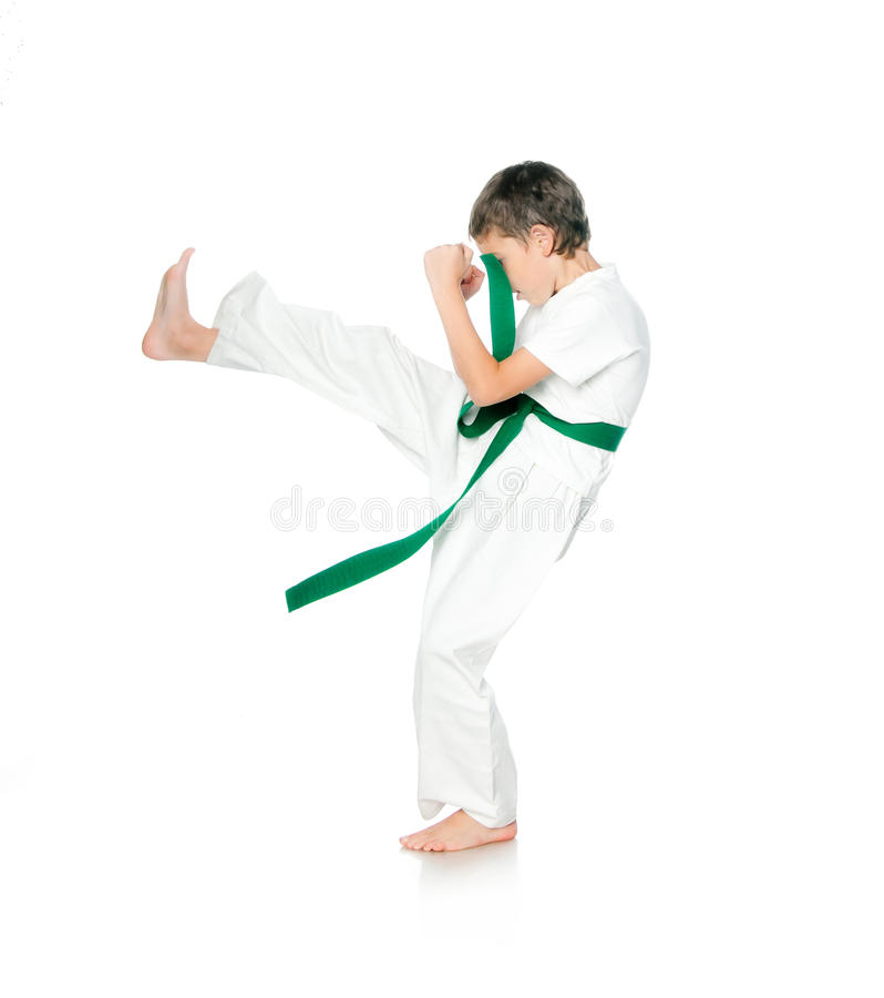 Download Young boy in kimono stock image. Image of defense, competition - 26547479