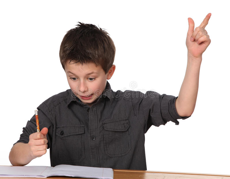 Young boy learning royalty free stock photo