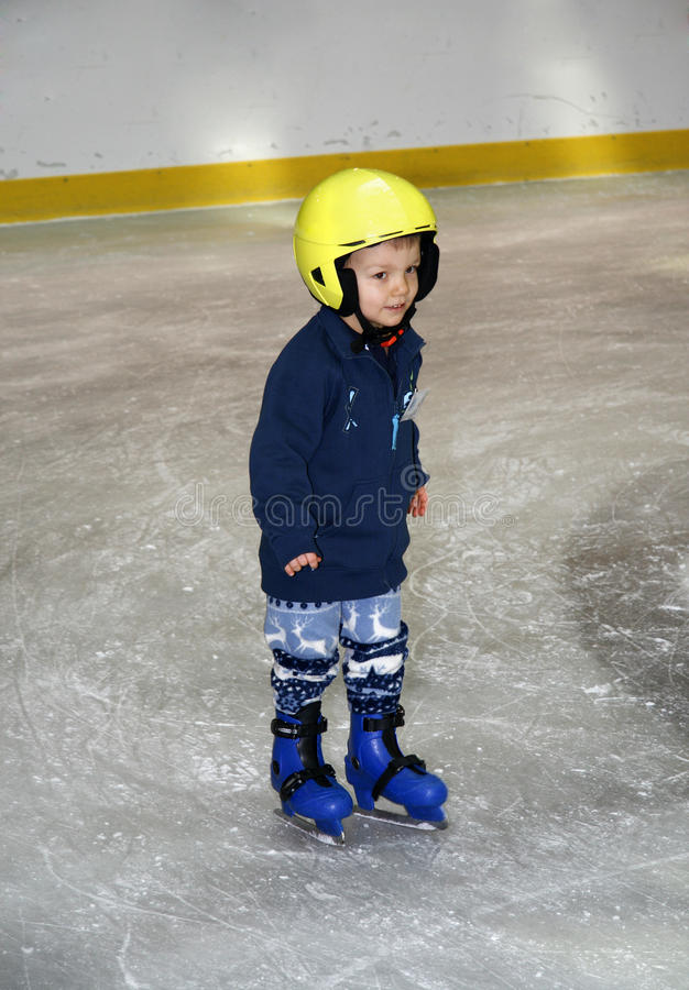 Free Young Boy Learning To Skate Royalty Free Stock Image - 9888256