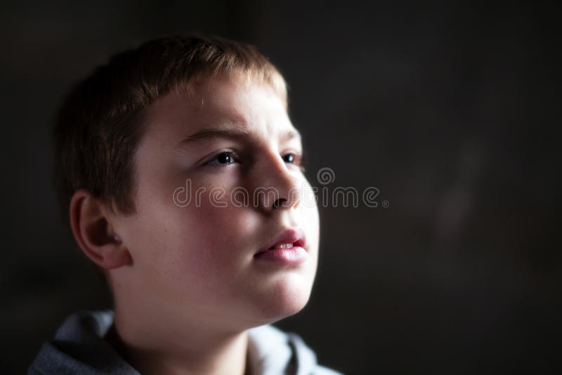 Download Young Boy Looking Up With Hope In His Eyes Stock Image - Image: 11937415