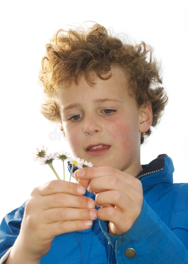 Young Boy in Love stock photos