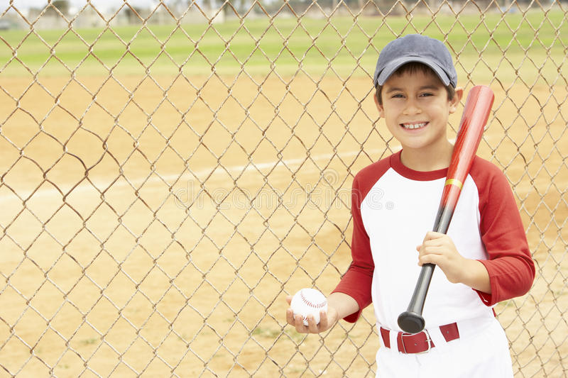 Young Boy Playing Baseball royalty free stock photos