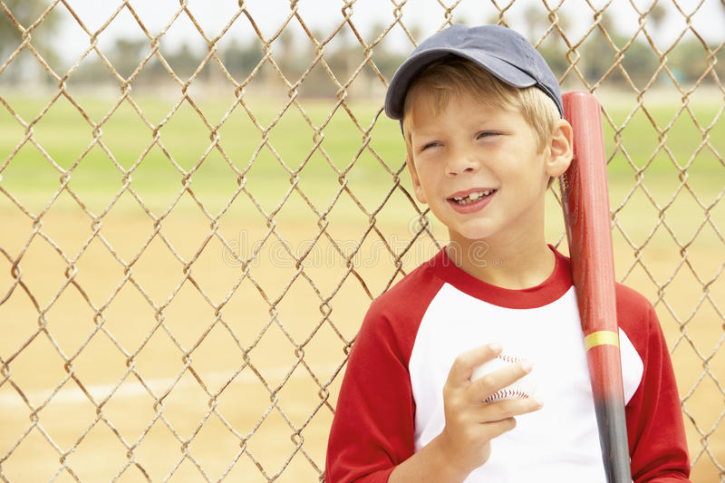 Young Boy Playing Baseball stock image