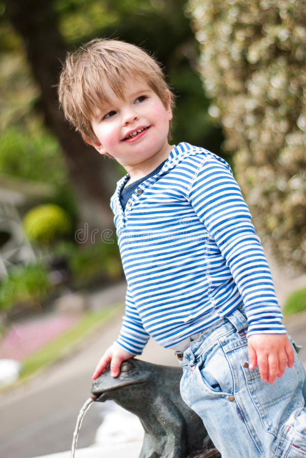 Young Boy Playing In Park Royalty Free Stock Image
