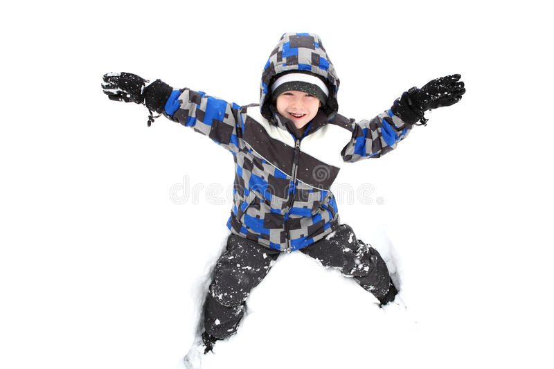 Download Young Boy Playing In The Snow Stock Image - Image: 17769513