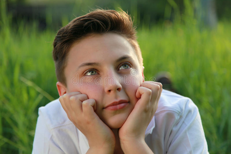 Download Young Boy Relaxing And Enjoying Stock Image - Image: 33626957