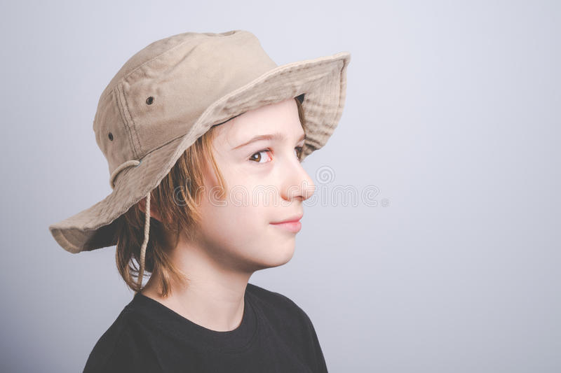Young boy scout smiling portrai royalty free stock photography