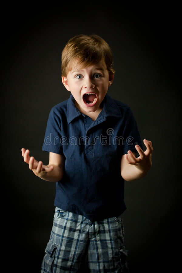 Download Young Boy Screaming With Emotion Stock Photo - Image: 15327474
