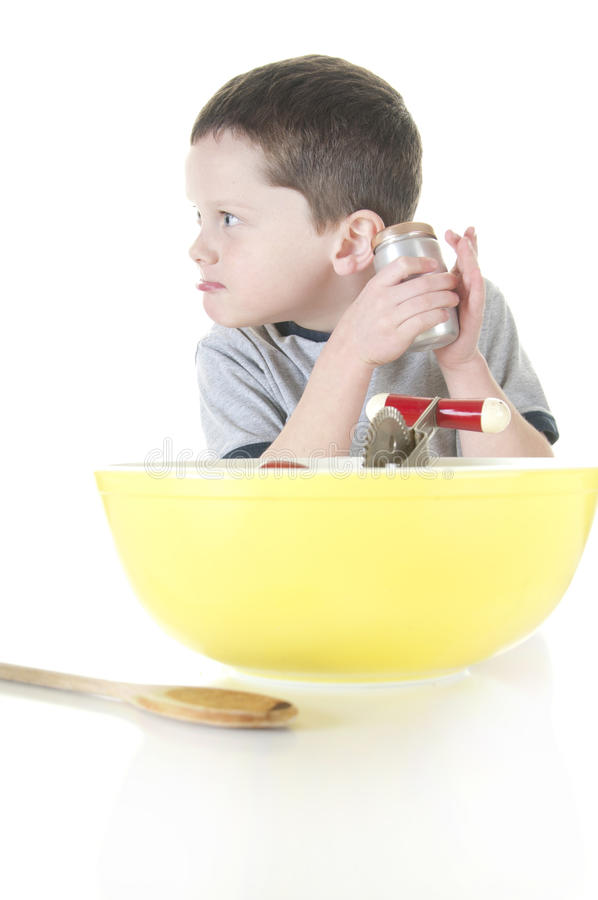 Download Young Boy With Secret Ingredient Stock Photo - Image of baking, chef: 17815404