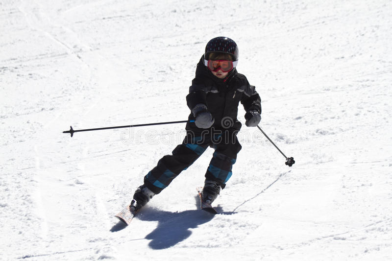 Young Boy Skiing Royalty Free Stock Images