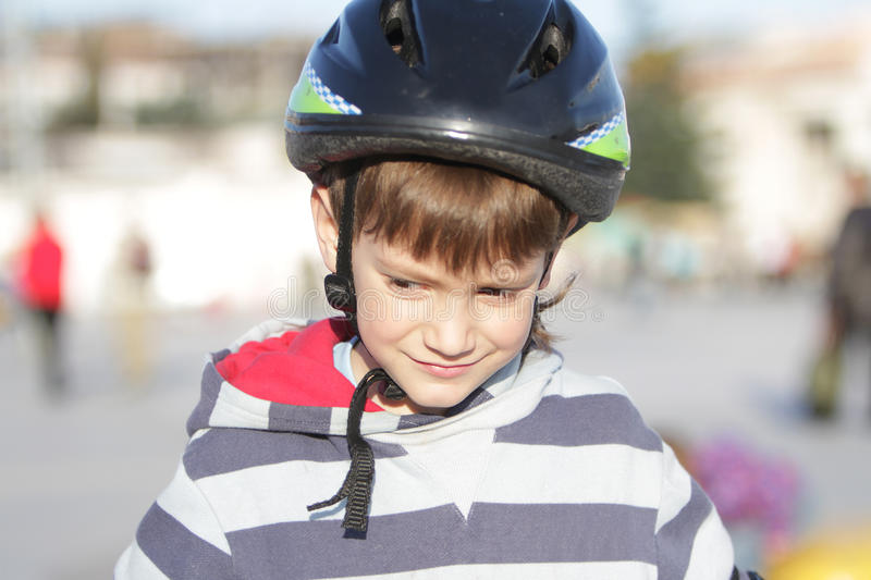 Download Young boy in sport helmet stock image. Image of fitness - 24454323