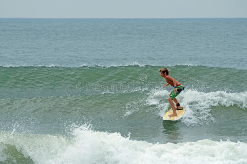 Download Young Boy Surfing Wrightsville Beach, NC Editorial Stock Image - Image: 32949414