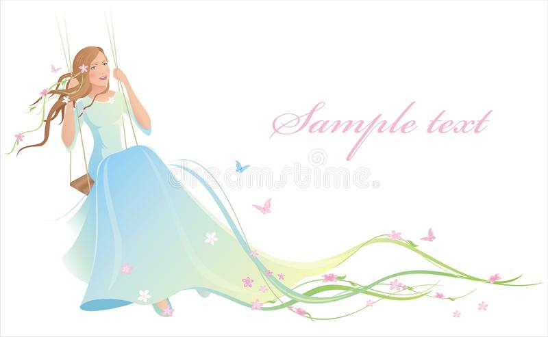 Download Young Bride On The Swing Royalty Free Stock Photo - Image: 14540475