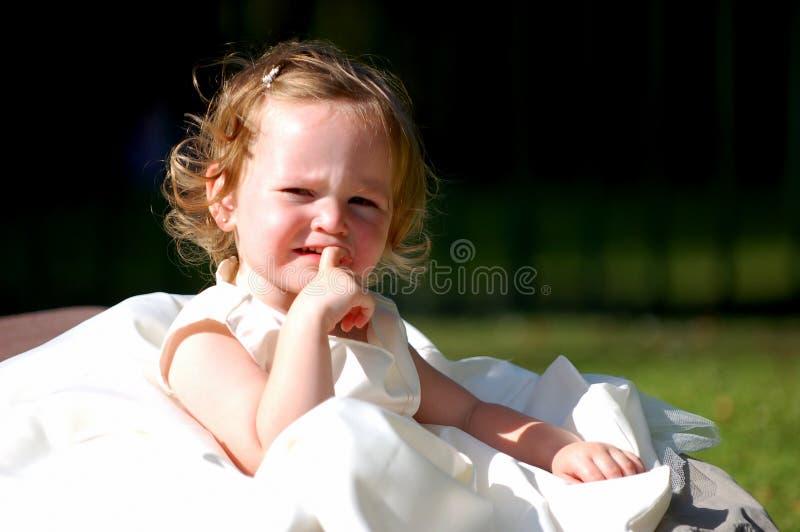 Young bridesmaid stock photography