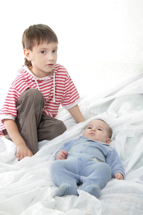 Download Young Brother And Sister Portrait Stock Image - Image: 23540393