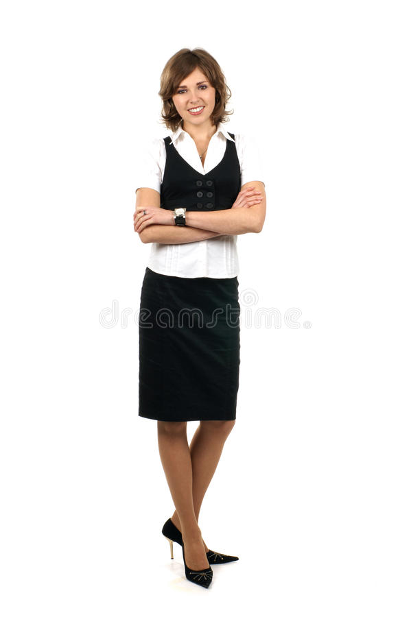 A young brunette businesswoman in formal clothes stock images