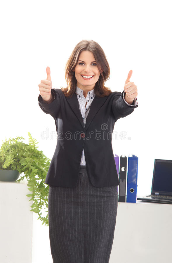 Download A Young Brunette Businesswoman In Formal Clothes Stock Photo - Image: 25576742