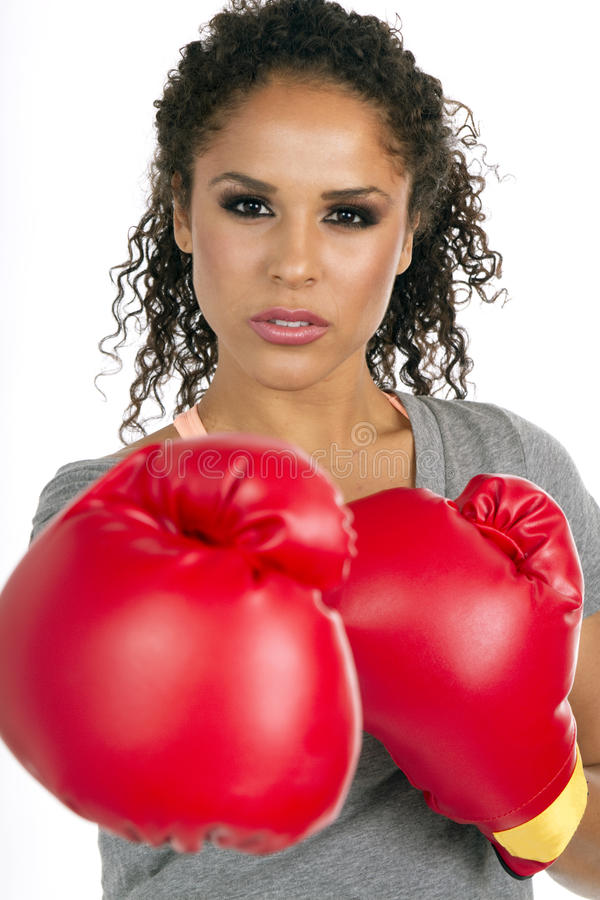 Download Young Brunette Female Boxer Stock Image - Image: 16459739
