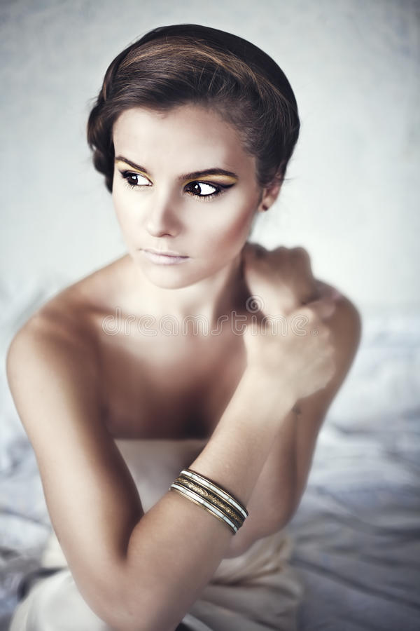 Download Young Brunette Lady With Luxury Accessories Stock Photo - Image: 21442814