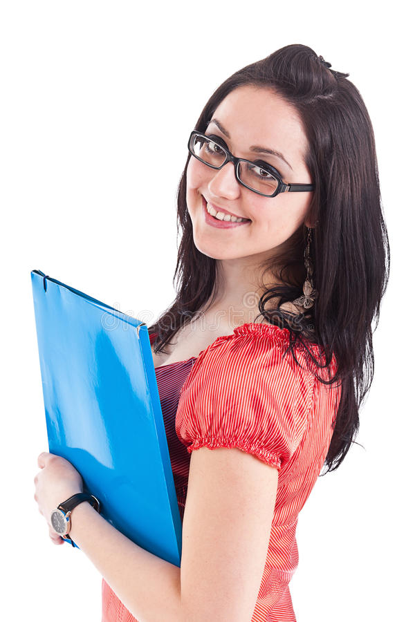 Young brunette student girl royalty free stock photo