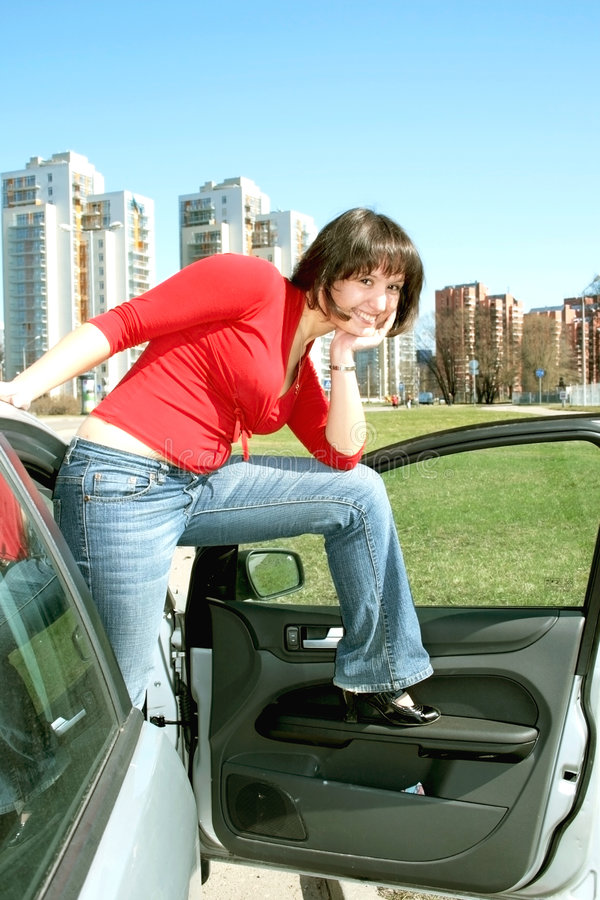 Download Young Brunette Travels On Europe Stock Image - Image: 9098165