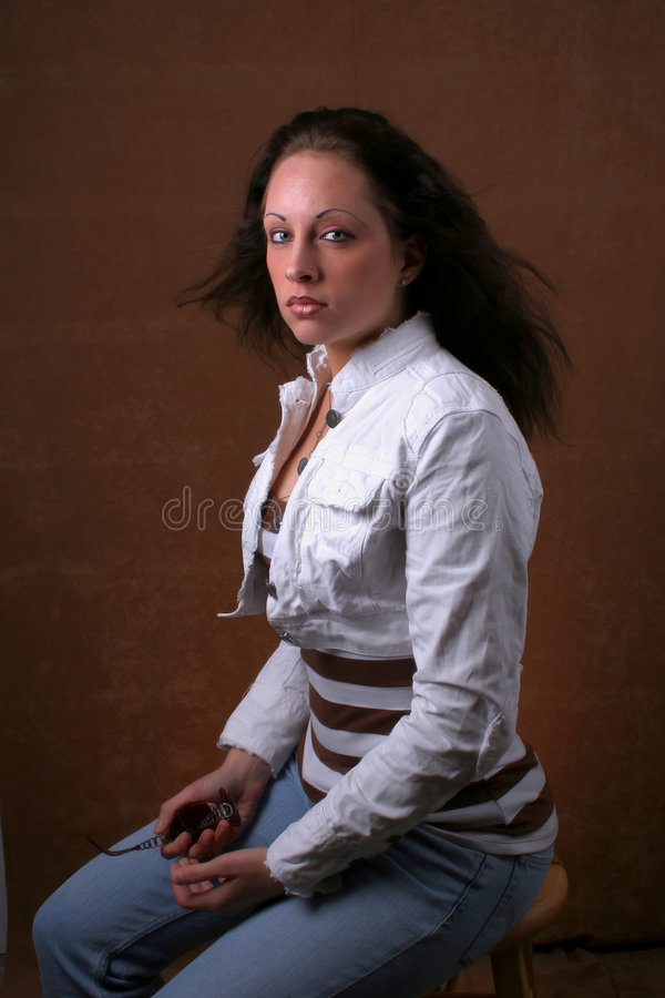 Download Young brunette woman stock image. Image of female, vertical - 1485617