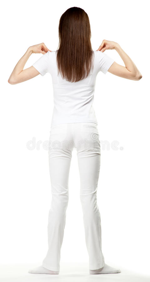 Free Young Brunette Woman Doing Sport Exercises Royalty Free Stock Photos - 25445888
