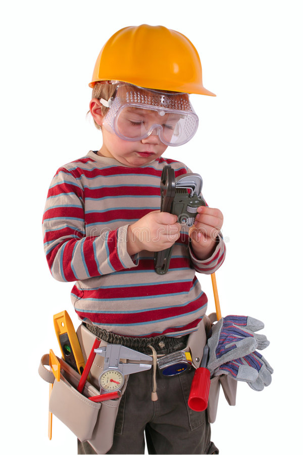 Download Young Builder stock image. Image of help, hardware, tool - 6533947