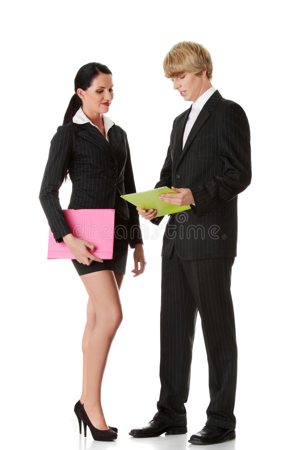 Young business colleges stock image