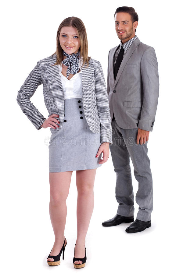 Young Business collegues looking at you