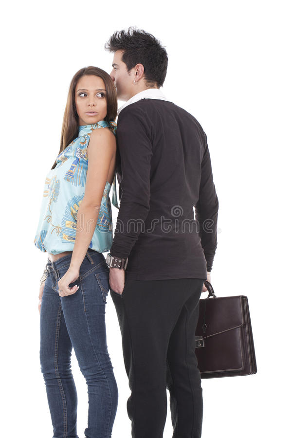 Young business couple royalty free stock photos